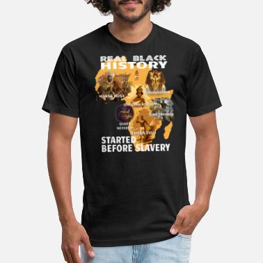 Real Black History Started Before Slavery T Shirt - Unisex Poly Cotton T-Shirt