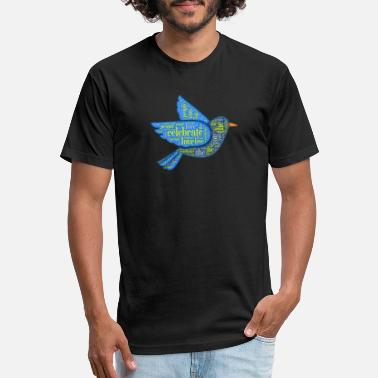 Pigeons Playing Ping Pong PPPP Horizon Celebrate the People You Love - Unisex Poly Cotton T-Shirt