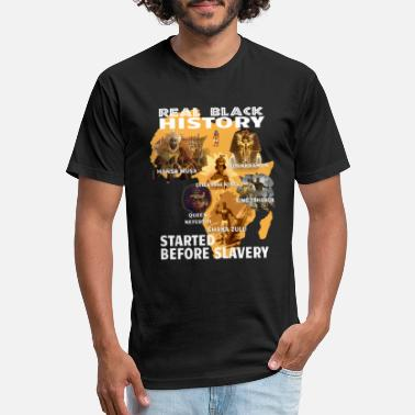 Slavery Real Black History Started Before Slavery T Shirt - Unisex Poly Cotton T-Shirt