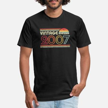 2007 2007 Vintage Design, Birthday Gift Tee. Retro - Unisex Poly Cotton T-Shirt