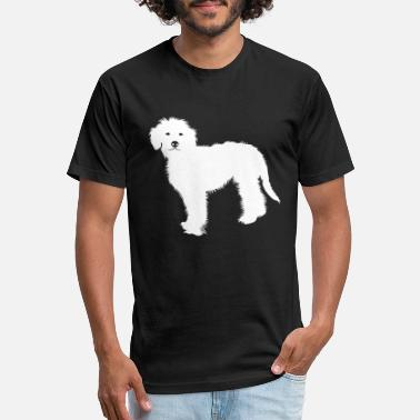 Doodle golden doodle - Unisex Poly Cotton T-Shirt