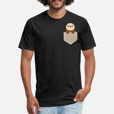 Sea Otter Geeky Cute Otter Peeking Out Of Pocket - Unisex Poly Cotton T-Shirt