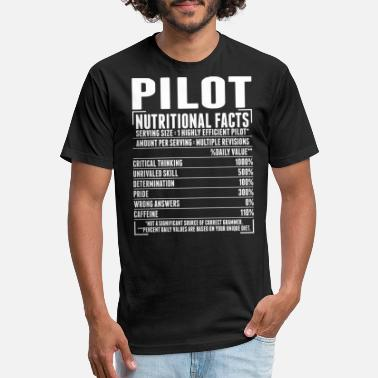 Pilots Pilot Nutritional Facts Tshirt - Unisex Poly Cotton T-Shirt