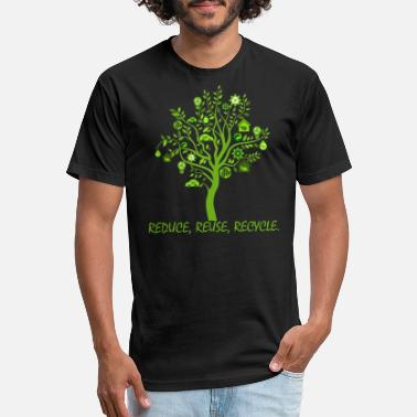 Greenpeace Green Wood Reduce Reuse Recycle Shirt - Unisex Poly Cotton T-Shirt