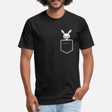 Floppy Ears bunny breast pocket with floppy ears - Unisex Poly Cotton T-Shirt
