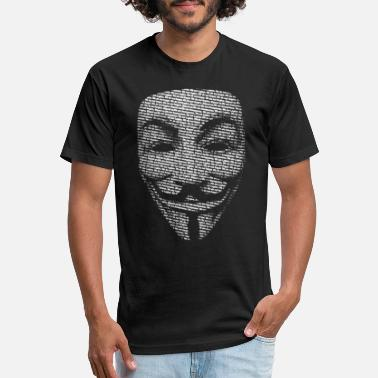 Guy V FOR VENDETTA MASK GUY FAWKES - Unisex Poly Cotton T-Shirt