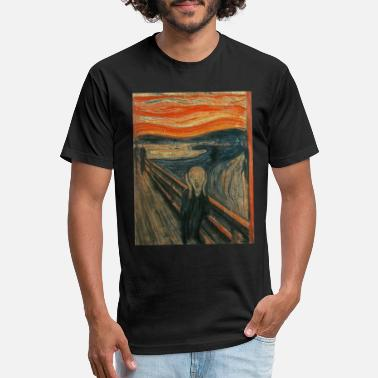 Scream The Scream (Textured) by Edvard Munch - Unisex Poly Cotton T-Shirt