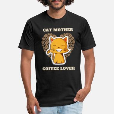 Cat Mother Coffee Lover - Unisex Poly Cotton T-Shirt