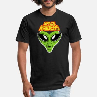 Space raiders distressed t shirt funny vintage - Unisex Poly Cotton T-Shirt
