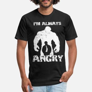 Funny Hulk Hulk T-shirt - I'm always angry - Unisex Poly Cotton T-Shirt