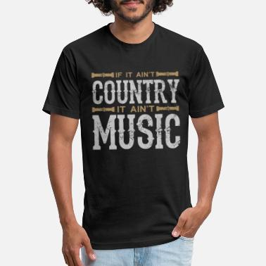 Countrymusic If It Ain't Country It Ain't Music - Unisex Poly Cotton T-Shirt