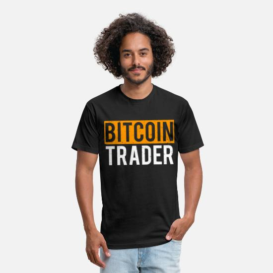 Humor T-Shirts - Bitcoin Trader Cool Bitcoins T-shirt - Unisex Poly Cotton T-Shirt black