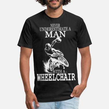Steppenreiter Wheelchair - Wheelchair - never uderestimate a m - Unisex Poly Cotton T-Shirt