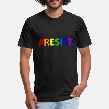 1cea80ba21 Resistance Politics Anti No Resist - #resist lgbtq rainbow anti-trump  resist - Unisex. Unisex Poly Cotton T-Shirt