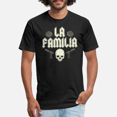 La Guns LA FAMILIA Guns and roses - Unisex Poly Cotton T-Shirt