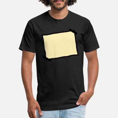 Piece Of Paper Blank piece of paper stuck note - Unisex Poly Cotton T-Shirt