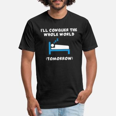 Conquer Cartoon - i will conquer the whole world tomorro - Unisex Poly Cotton T-Shirt