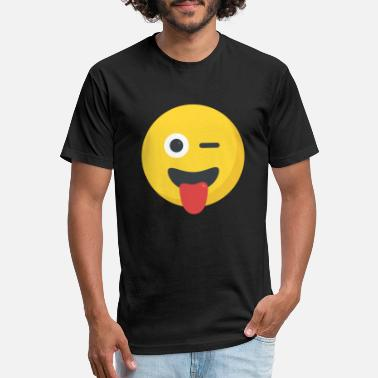 Winking Wink - Unisex Poly Cotton T-Shirt