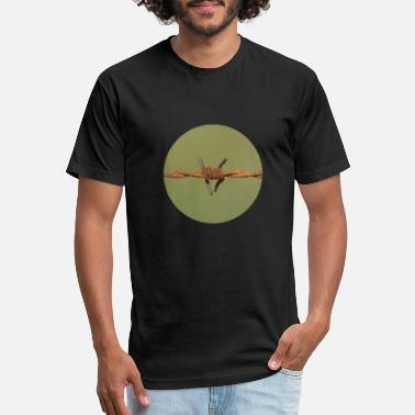 Barbed Wire Barbed wire - Unisex Poly Cotton T-Shirt