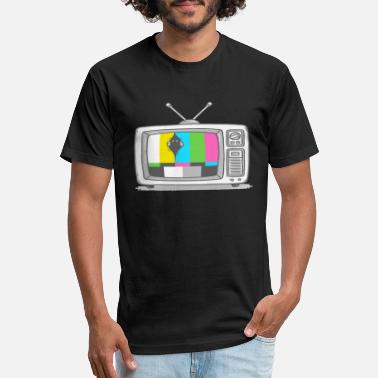 Watch Tv Watching TV - Unisex Poly Cotton T-Shirt