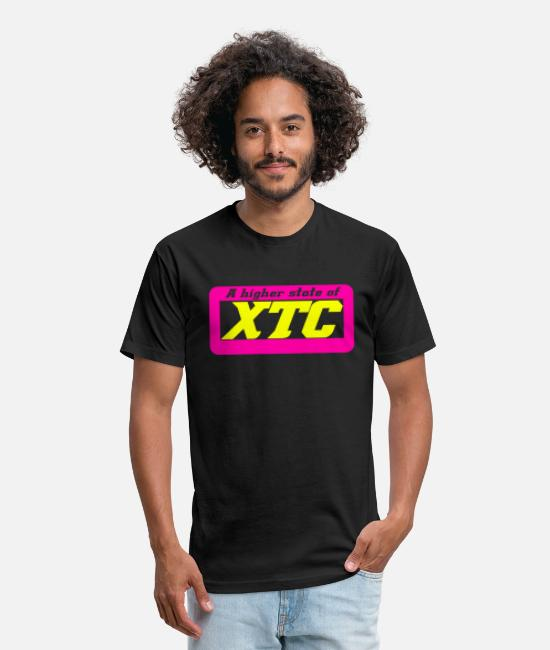 Techno Music T-Shirts - A higher state of XTC. Techno Rave Festival Design - Unisex Poly Cotton T-Shirt black