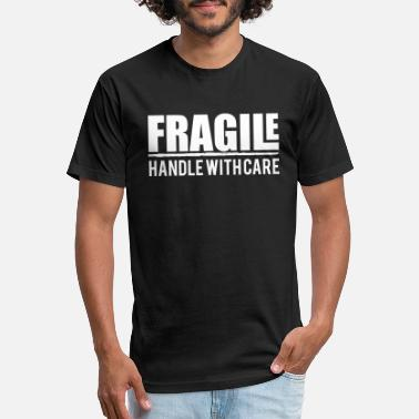 Fragile Handle With Care fragile handle with care, pretty, pregnant, funny - Unisex Poly Cotton T-Shirt