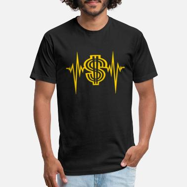 Frequency dollar pulse heartbeat frequency symbol sign money - Unisex Poly Cotton T-Shirt