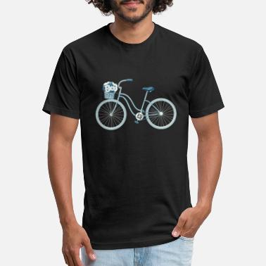 Netherlands Blue Retro Bike - Unisex Poly Cotton T-Shirt
