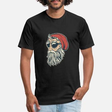 Santa Clause Hipster Santa Clause - Unisex Poly Cotton T-Shirt