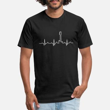 Player Bass Guitar Player Hearbeat - Unisex Poly Cotton T-Shirt