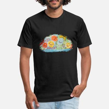 Unity Smiley Party | Art Tshirt Print for Kids - Unisex Poly Cotton T-Shirt
