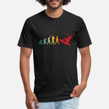 Evolutionary History evolutionary history gaming surfing wave board - Unisex Poly Cotton T-Shirt