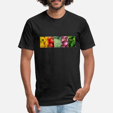 Vegetables vegetables colorful - Unisex Poly Cotton T-Shirt