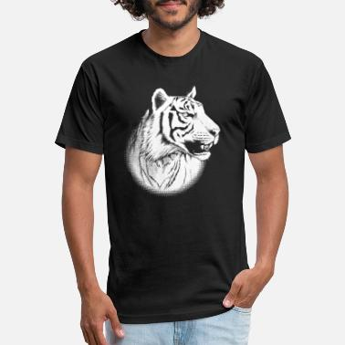White Tiger Sumatra Tiger Animal Portrait II for dark products - Unisex Poly Cotton T-Shirt