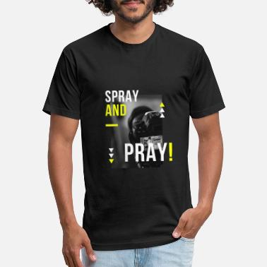 Spray and Pray - Unisex Poly Cotton T-Shirt