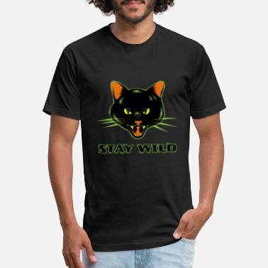 Wild Cat Stay Wild - Unisex Poly Cotton T-Shirt