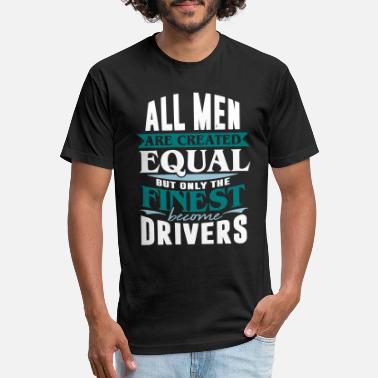 Road Transport driver taxi car road transport - Fitted Cotton/Poly T-Shirt by Next Level