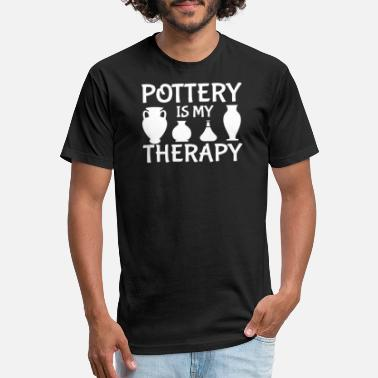 Pottery Pottery Is My Therapy Pottery Lover Graphic - Unisex Poly Cotton T-Shirt