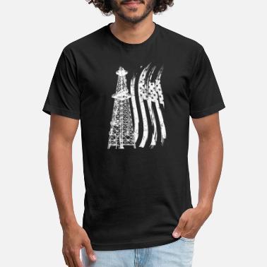 0c839478 Oilfield America USA Flag T-Shirt Oilfield Tee - Unisex Poly Cotton T-Shirt