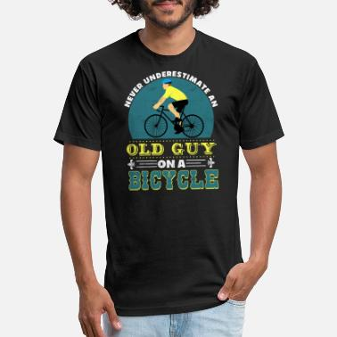 Man Old guy with bycicle - Unisex Poly Cotton T-Shirt