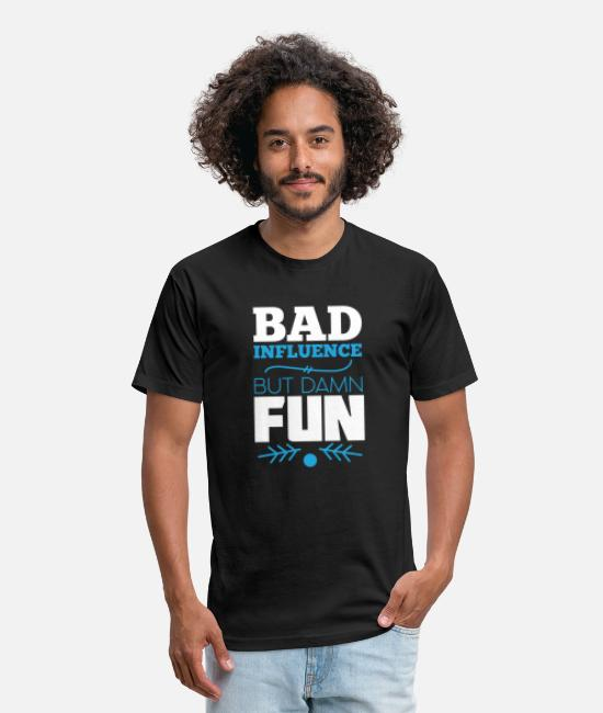 Offensive T-Shirts - Bad influence - Unisex Poly Cotton T-Shirt black