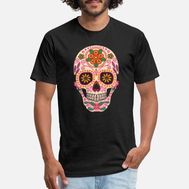 Painting Sugarskull painting - Unisex Poly Cotton T-Shirt