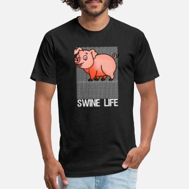 Swine Fever Funny Swine Life OMG Pig Tee - Unisex Poly Cotton T-Shirt