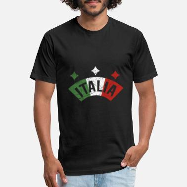 Italian Flag Italy Flag Vacation Travel Distressed Gifts - Unisex Poly Cotton T-Shirt