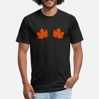 Syrup Maple Leaves - Unisex Poly Cotton T-Shirt
