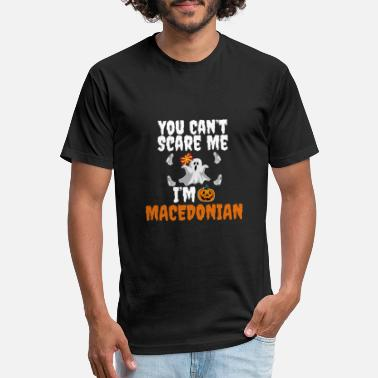 Can't scare me I'm Macedonian Halloween Macedonia - Unisex Poly Cotton T-Shirt