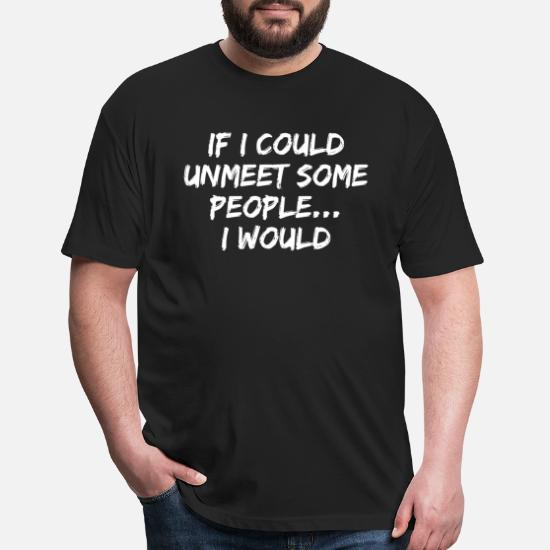 Funny Sarcastic Introvert Quote T-Shirt Unisex Poly Cotton T