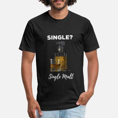 Single Malt Single Malt Whisky - Valentine's Day Design - Unisex Poly Cotton T-Shirt