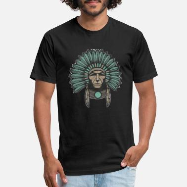 Headdress Indian Chief - Unisex Poly Cotton T-Shirt