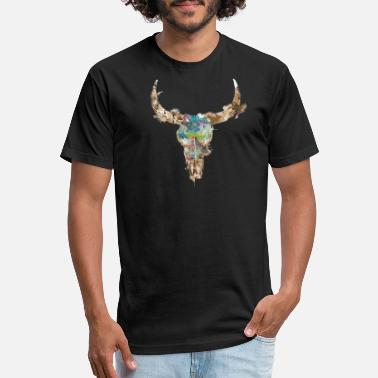 Cow Skull cow skull watercolor - Unisex Poly Cotton T-Shirt